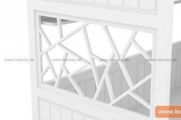 Poschodová posteľ GRACE so schodami